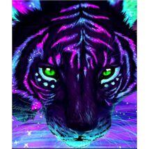 Gyémántkirakó készlet - Tigris - fluoreszkáló (30x40 cm-es)