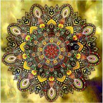 Gyémántkirakó készlet - Sárga mandala