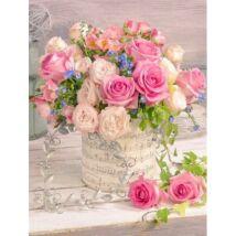 Gyémántkirakó készlet - Színes rózsacsokor
