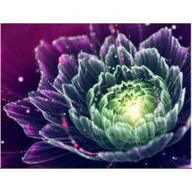 Gyémántkirakó készlet - Fantasy flower rózsaszín