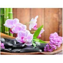 Gyémántkirakó készlet - Világos rózsaszín orchidea