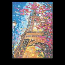 Számfestő - Virágos Párizs