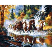 Számfestő - Vágtázó lovak