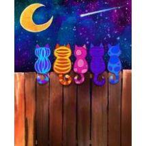 Számfestő - Cicák a holdfényben