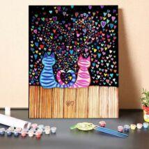 Számfestő - Macskák és szívek
