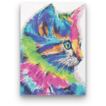 Számfestő - Színes cica