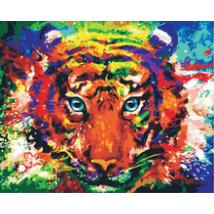 Számfestő - Színes tigris