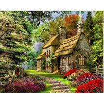 Számfestő - Házikó az erdő szélén