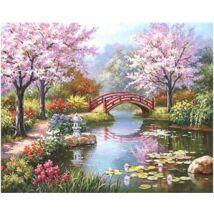 Számfestő - Híd a parkban