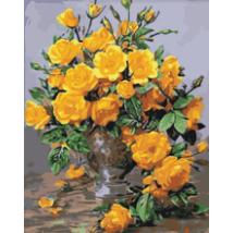 Számfestő - Sárga virágcsokor