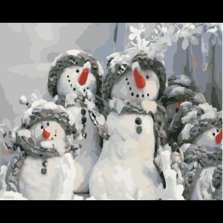 Számfestő - Hóember család