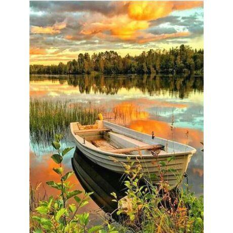 Gyémántkirakó készlet - Csónak a tavon