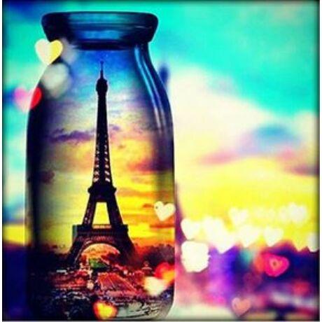 Gyémántkirakó készlet - Eiffel torony üvegben