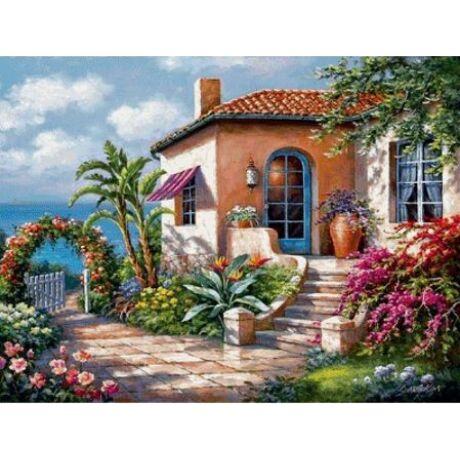 Gyémántkirakó készlet - Mediterrán ház