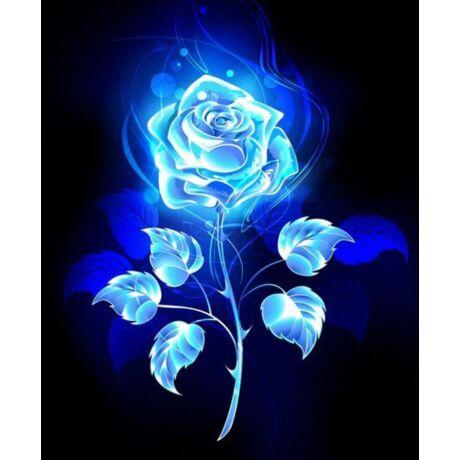 Gyémántkirakó készlet - Kék rózsa - FLUO