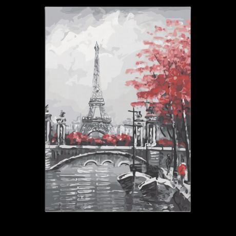 Számfestő - Eiffel torony a folyóról