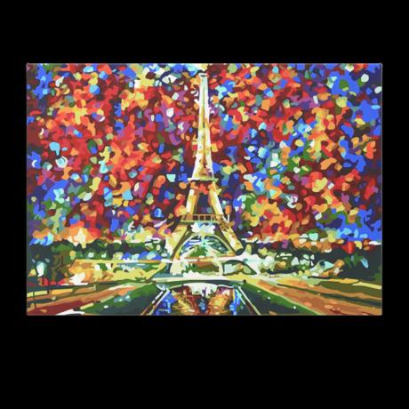 Számfestő - Eiffel torony őszi levelekkel