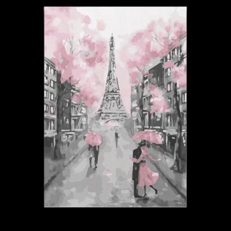 Számfestő - Rózsaszín Párizs