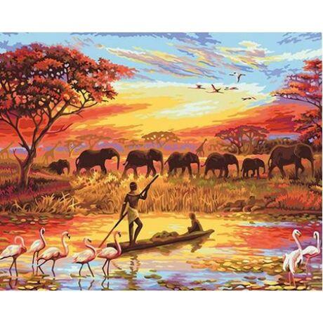 Számfestő - Afrikai naplemente